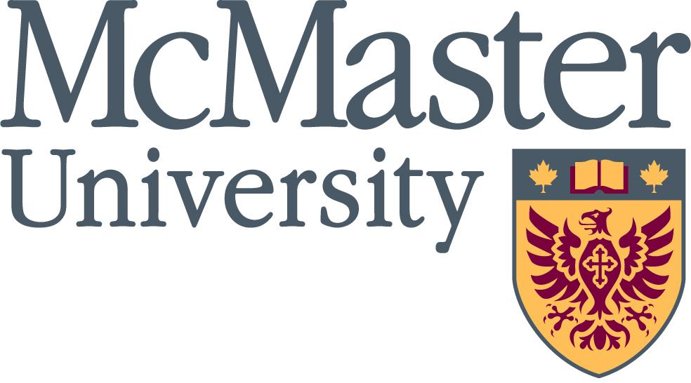 mcmaster university logo; grey text on white background