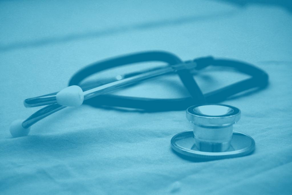 Stethoscope in blue duotone image