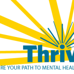 Thrive logo yellow tagline