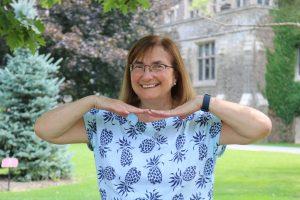 Debbie, outdoors, smiling